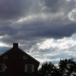 House and clouds