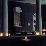 Candlelight service outside