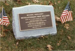 Michael Vreelandt cemetery stone